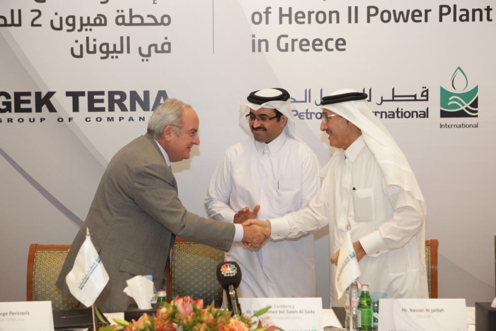 Από την υπογραφή των συμβολαίων για την εξαγορά του 25% της ΗΡΩΝ ΙΙ από την θυγατρική της κρατικής εταιρείας πετρελαίου του Κατάρ (QPI) έναντι 58 εκατ. δολαρίων