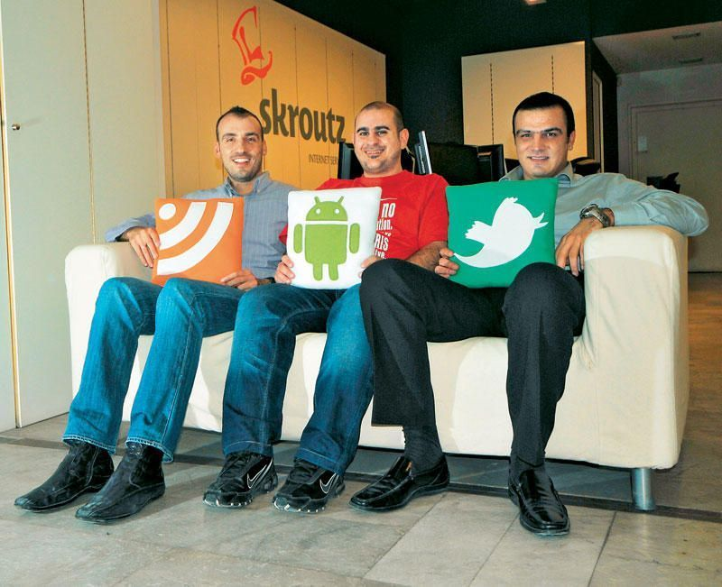 Οι επικεφαλής του Skroutz.gr. Βασίλης Δήμου, Γιωργος Χατζηγεωργίου και Γιώργος Αυγουστίδης