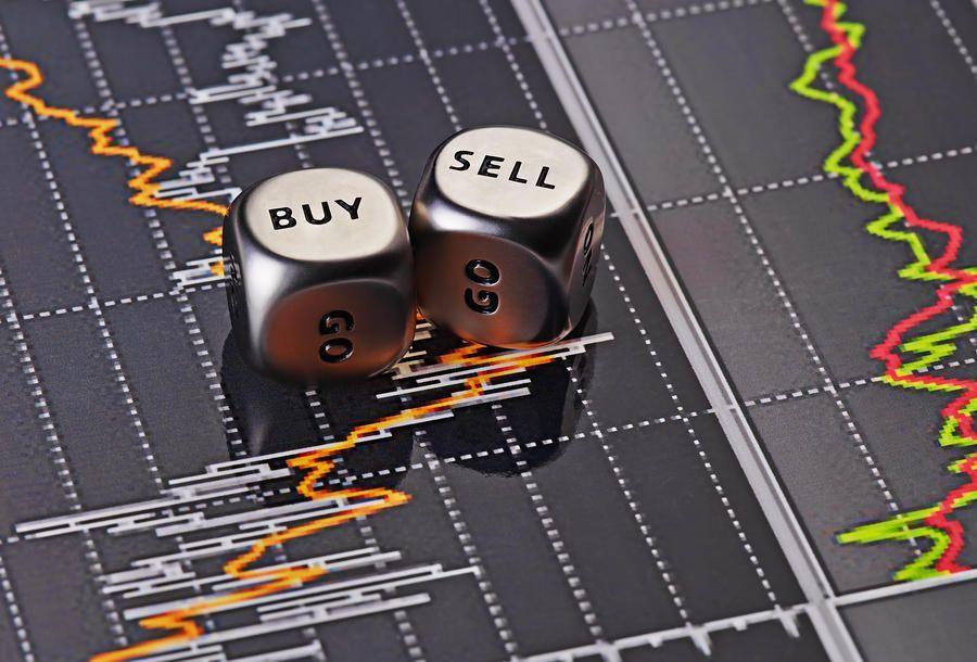Illustrate buy sell stocks
