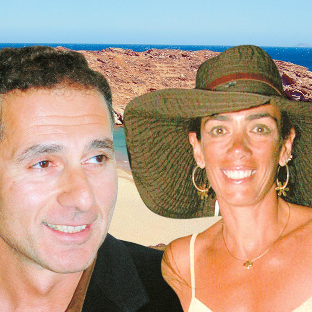 Ο κ. Μιχαλόπουλος ,με τη σύζυγο του Β. Πετρίδη της επιχειρηματικής οικογένειας με την αλυσίδα καταστημάτων
