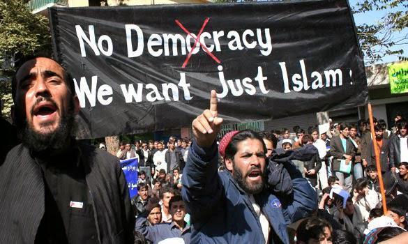 No democracy just islam