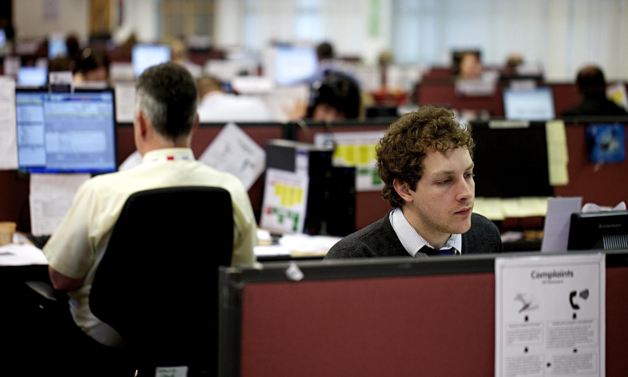 Εργαζόμενοι σε βρετανική εταιρεία