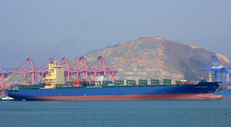 Το πλοίο μεταφοράς εμπορευματοκιβωτίων Hyundai Prestige, της Capital Product Partners (CPP)
