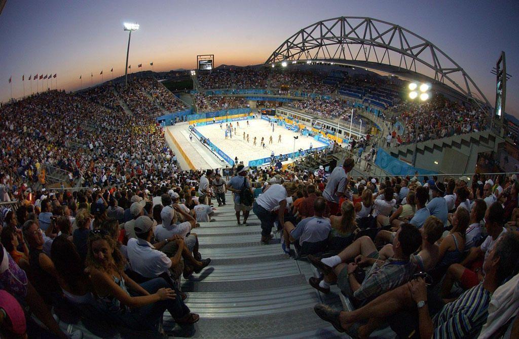 Οι κατάμεστες εγκαταστάσεις του beach volley στους Αγώνες της Αθήνας