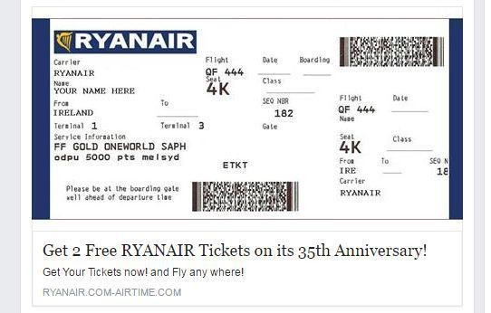 Image result for Απάτη με εισιτήρια της Ryanair