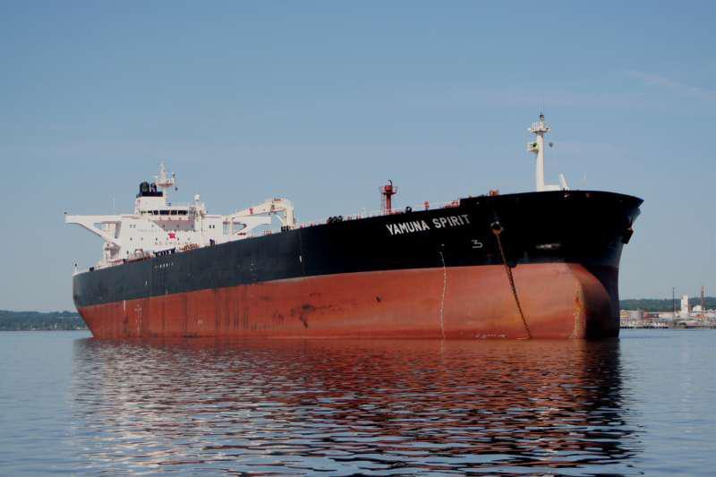 """Το δεξαμενόπλοιο """"Yamuna Spirit"""" έχει χωρητικότητα 159.000-dwt και είναι κατασκευής του 2009"""