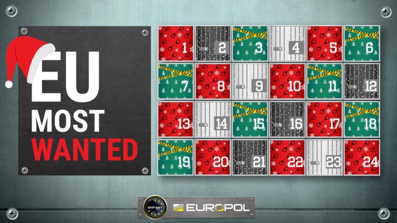 Europol χριστουγεννιάτικο ημερολόγιο με καταζητούμενος.