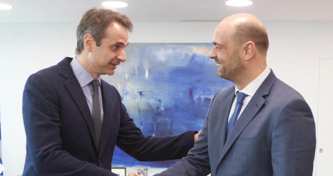 Ο Πρόεδρος της ΝΔ Κυριάκος Μητσοτάκης και ο ανεξάρτητος βουλευτής Αχαΐας Ιάσων Φωτήλας