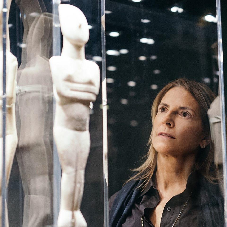 Σάντρα Μαρινοπούλου. Πρόεδρος Μουσείου Κυκλαδικής Τέχνης