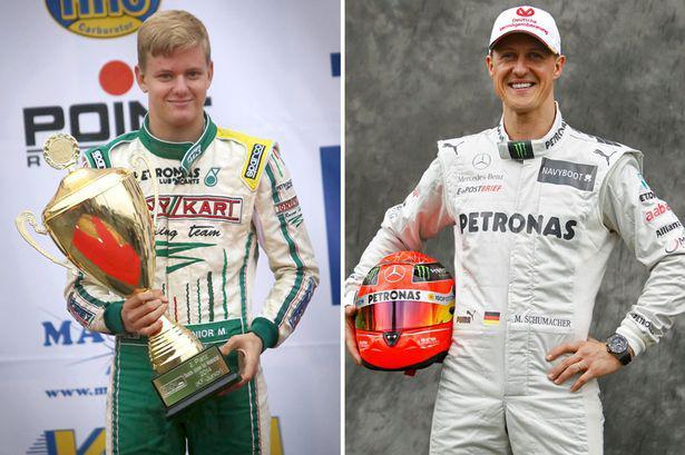 O Michael Schumacher και ο γιος του, Μick