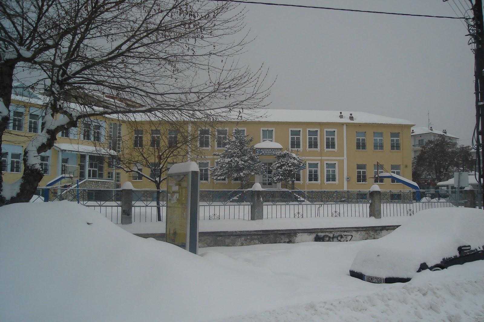 σχολεία κλειστά χιονιάς