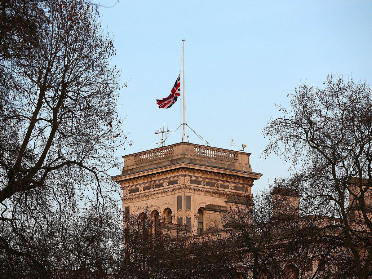 Union Jack half mast