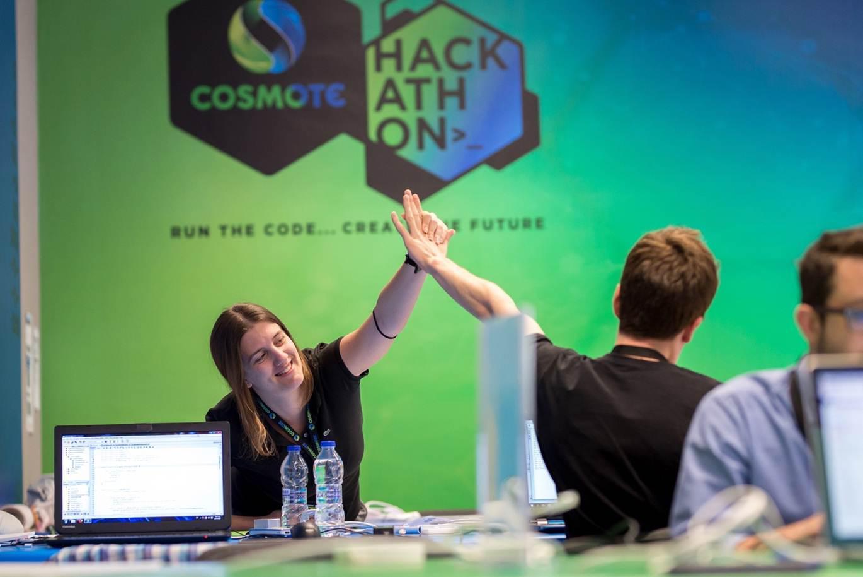 Στιγμές από τον μαραθώνιο διαγωνισμό καινοτομίας