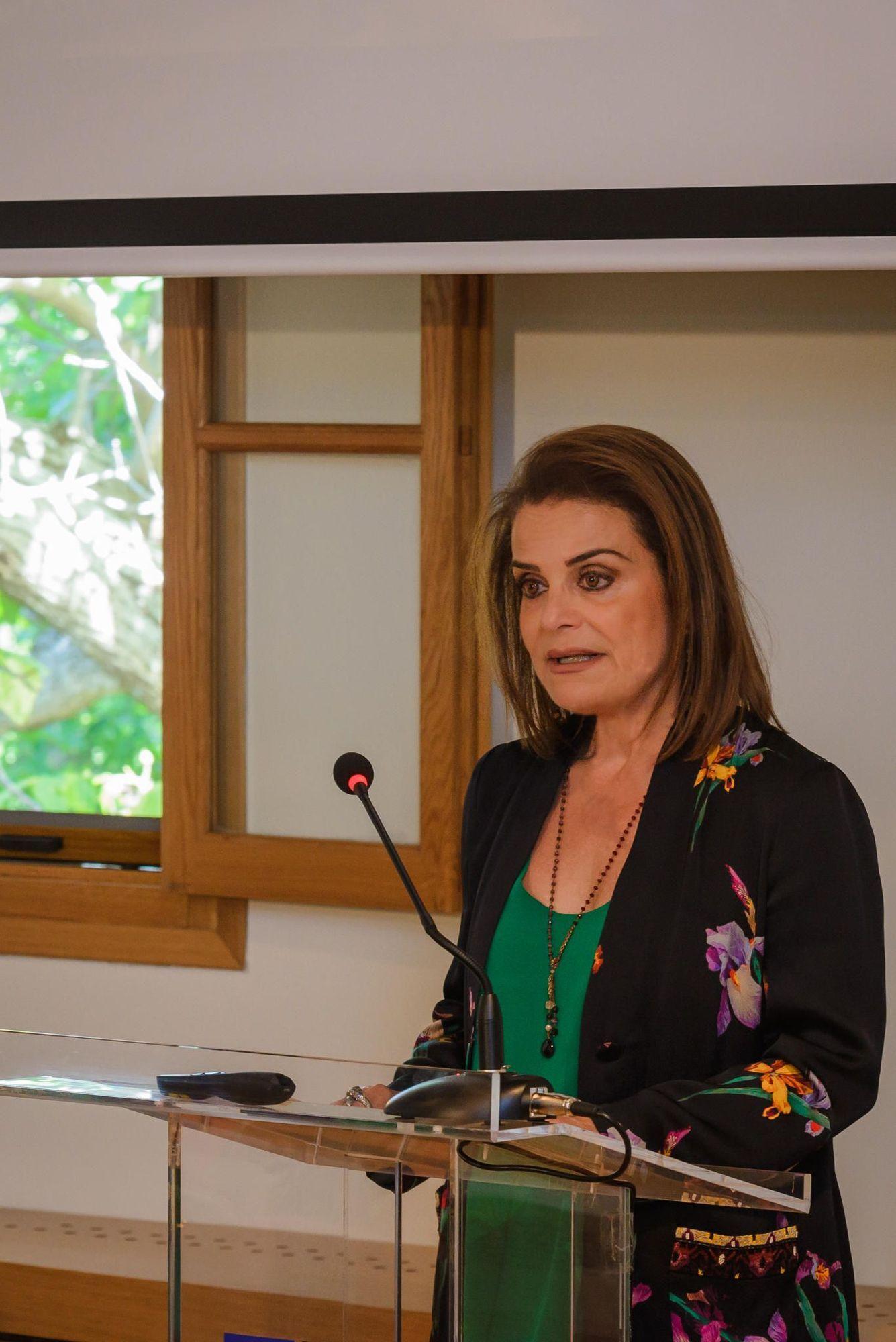 Η Πρόεδρος του Πολιτιστικού Ιδρύματος Ομίλου Πειραιώς κ. Σοφία Στάϊκου.