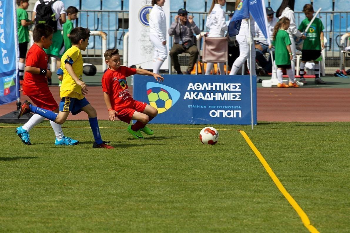 Τα παιδιά συμμετέχουν στις δραστηριότητες του φεστιβάλ της Θεσσαλονίκης.